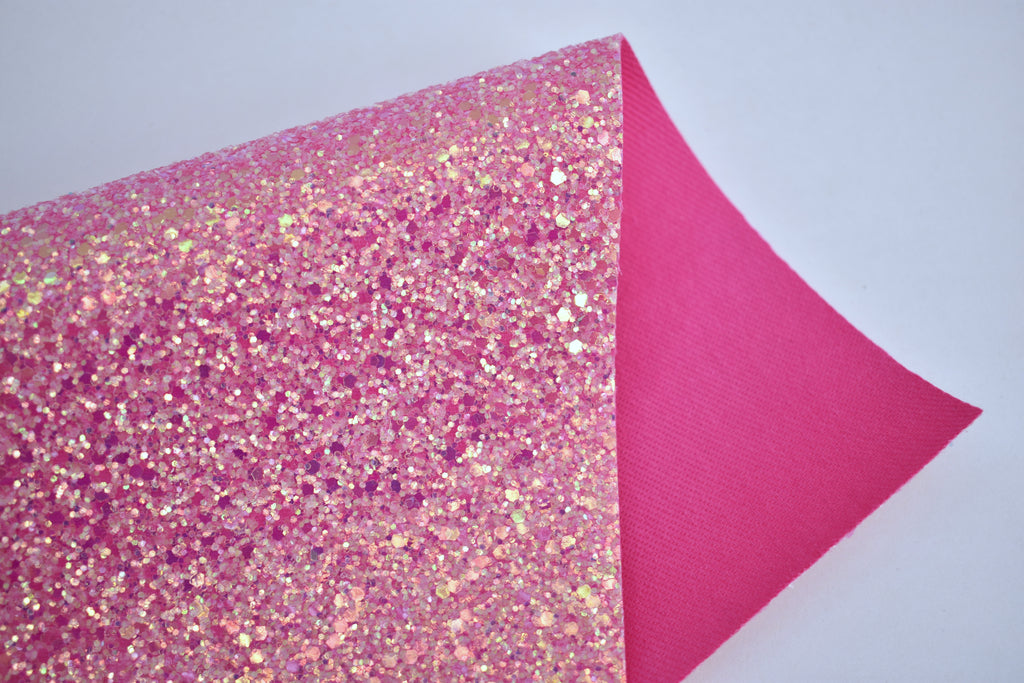 Passion Iridescent Crystal Chunky Glitter Fabric Sheet