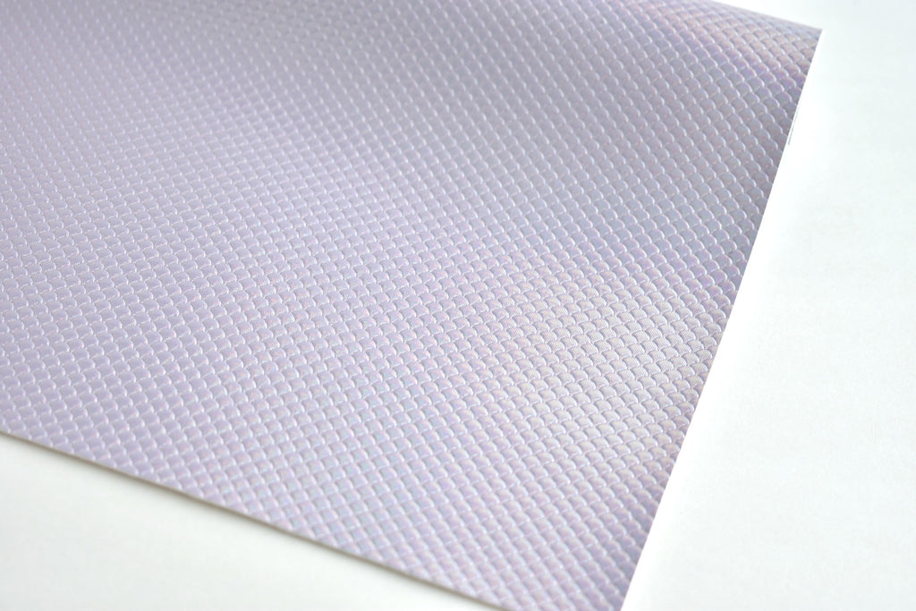 Lilac Mermaid Scale Iridescent Faux Leather Fabric Sheet