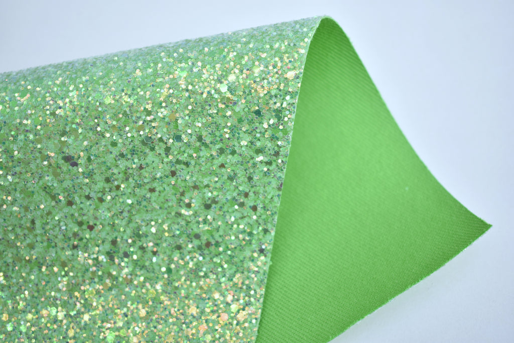 Courage Iridescent Crystal Chunky Glitter Fabric Sheet