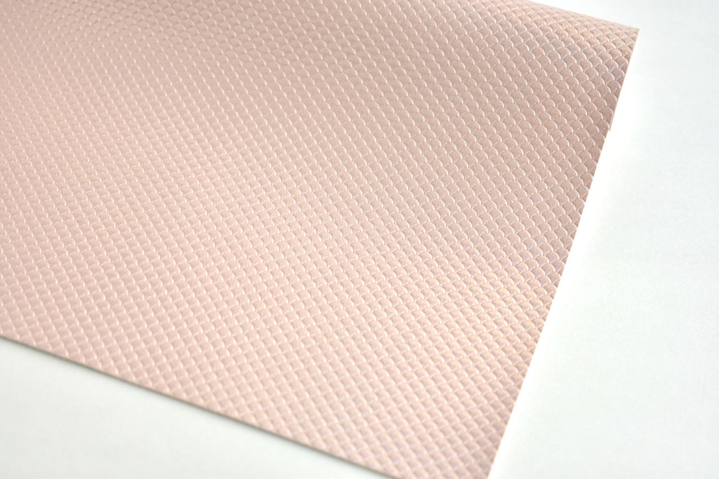 Blush Mermaid Scale Iridescent Faux Leather Fabric Sheet