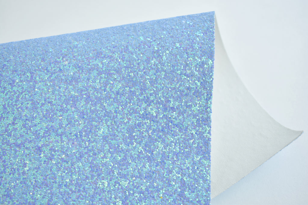Ocean Waves Chunky Glitter Fabric Sheet