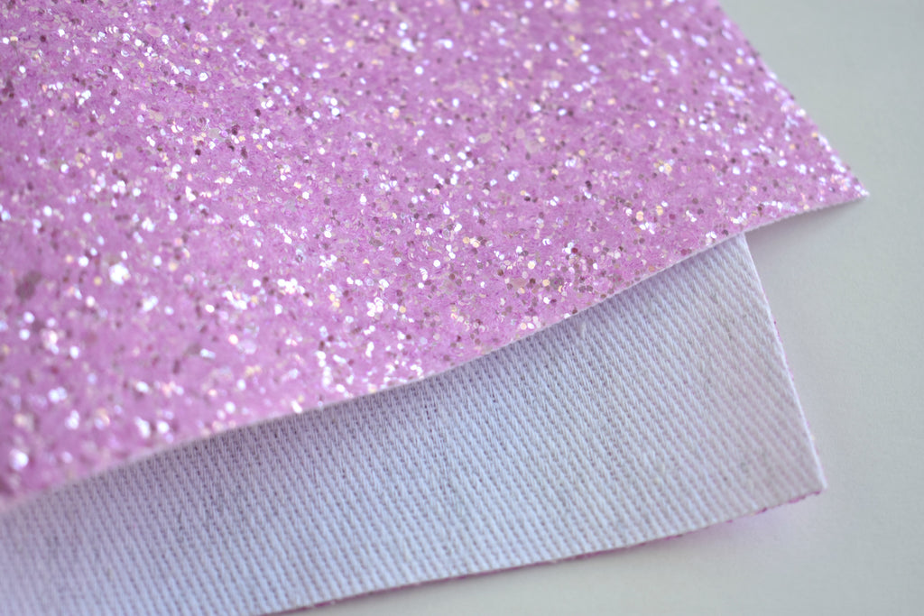 Light Purple Frosted Chunky Glitter Fabric Sheet