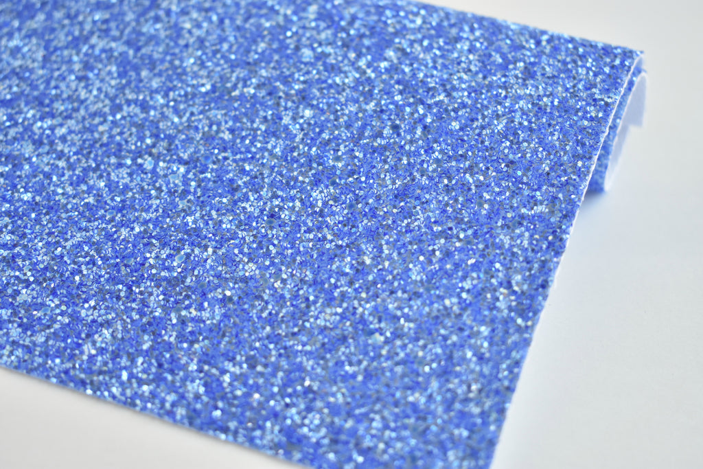 Royal Blue Frosted Chunky Glitter Fabric Sheet