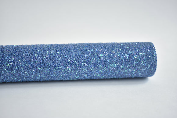 Nerds of A Feather (Peacock Blue) Exclusive Iridescent Chunky Glitter Fabric Sheet