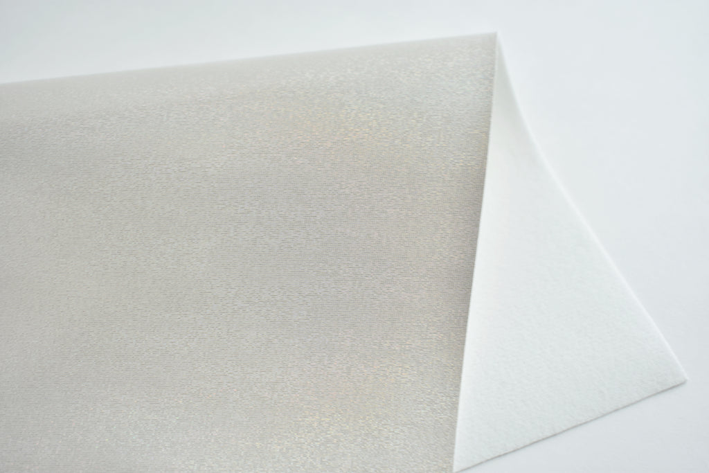 Coconut Dreams Shimmering Smooth Faux Leather Fabric Sheet