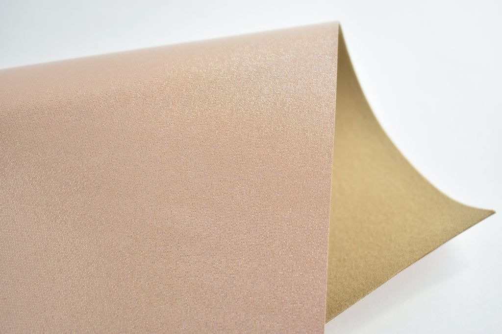 Tan Lines Shimmering Smooth Faux Leather Fabric Sheet
