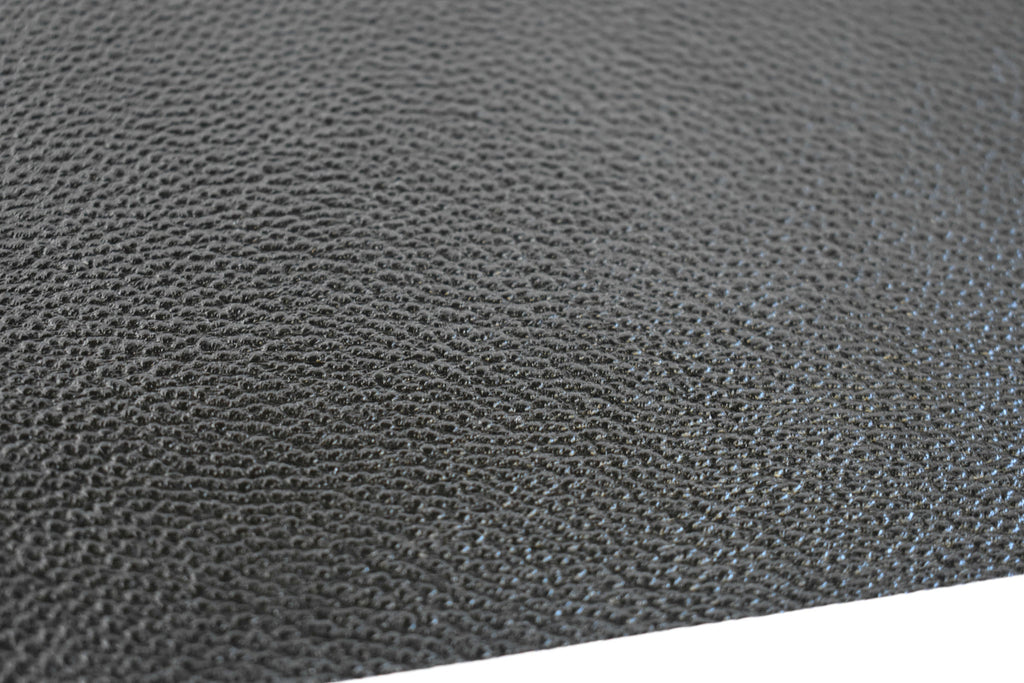 Black Shiny Metallic Textured Faux Leather Fabric Sheet
