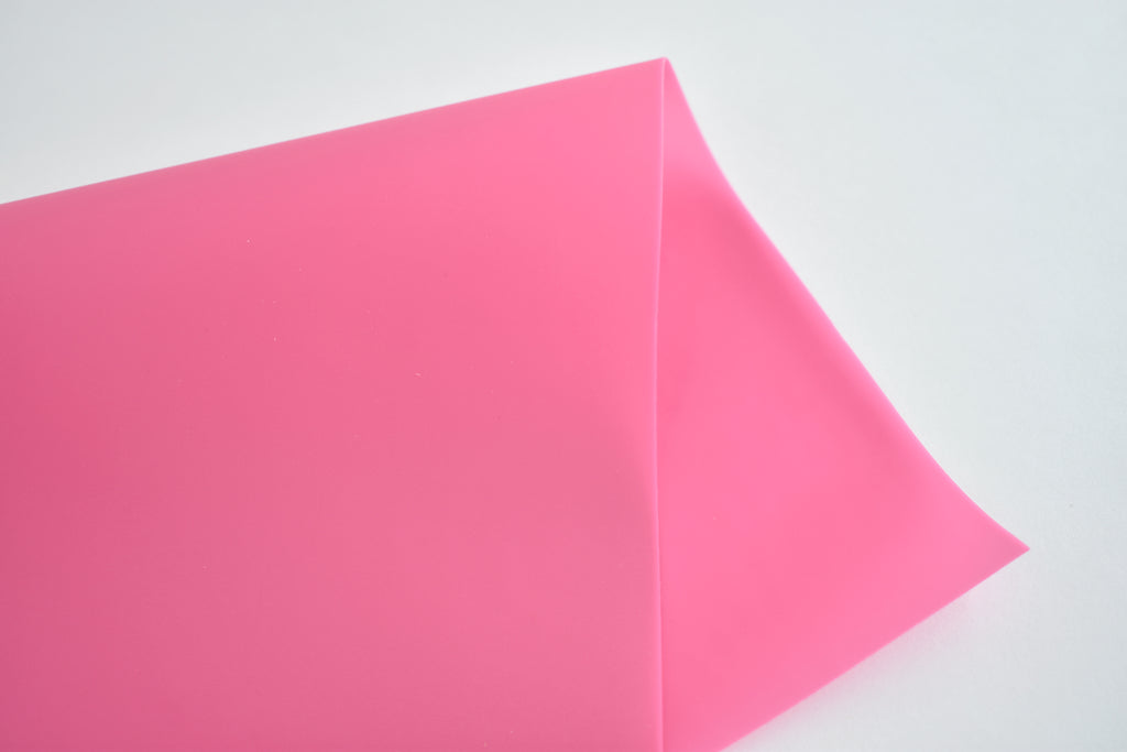 Pink Jelly Faux Leather Fabric Sheet