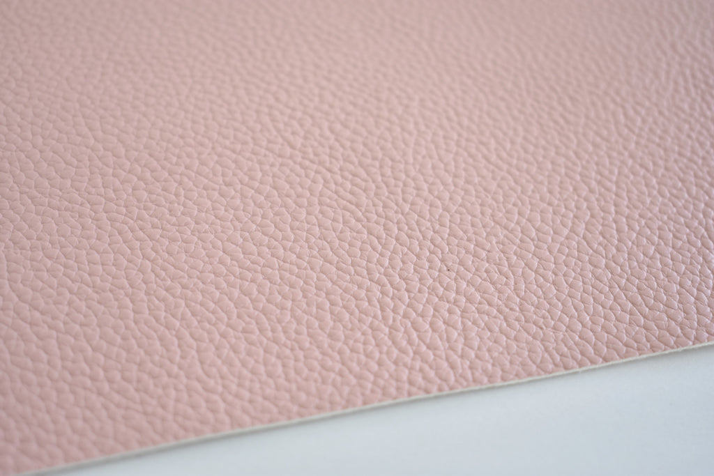 Blush Textured Faux Leather Fabric Sheet