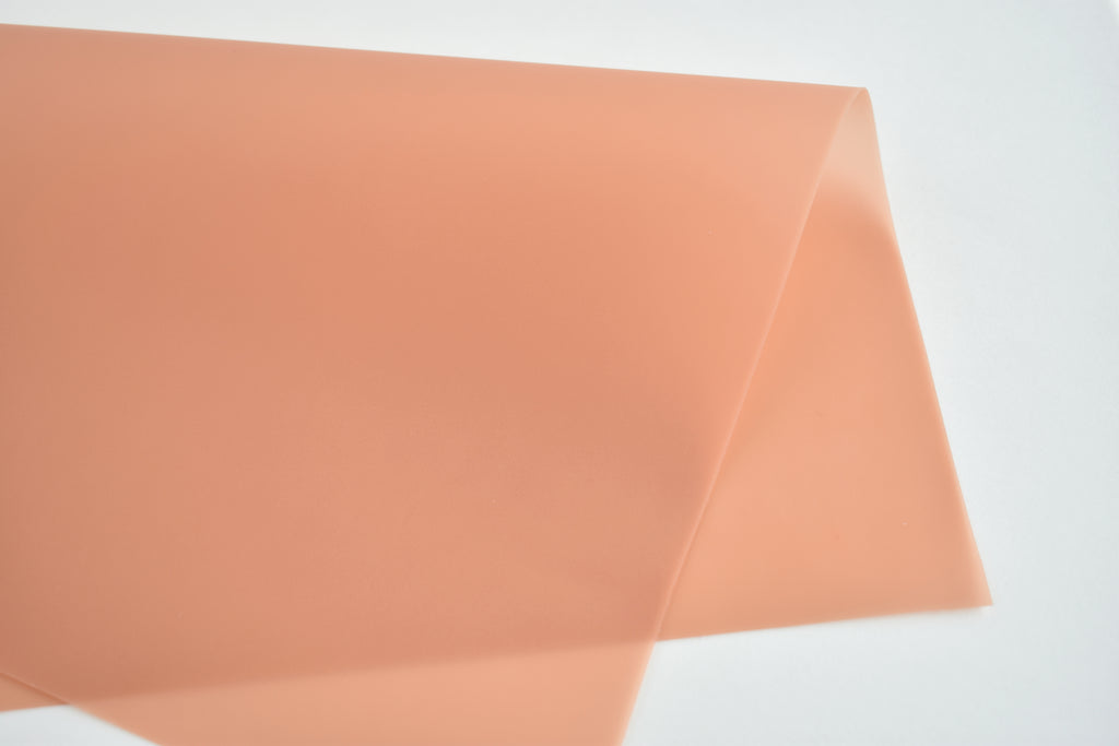 Orange Creamsicle Jelly Faux Leather Fabric Sheet