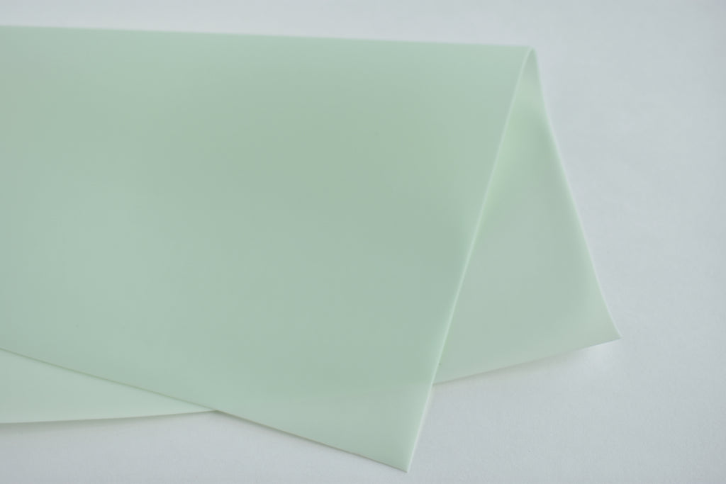 Honeydew Melon Jelly Faux Leather Fabric Sheet