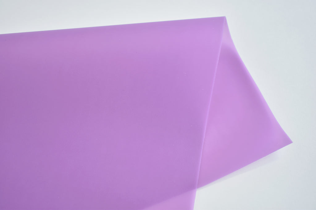 Lilac Jelly Faux Leather Fabric Sheet