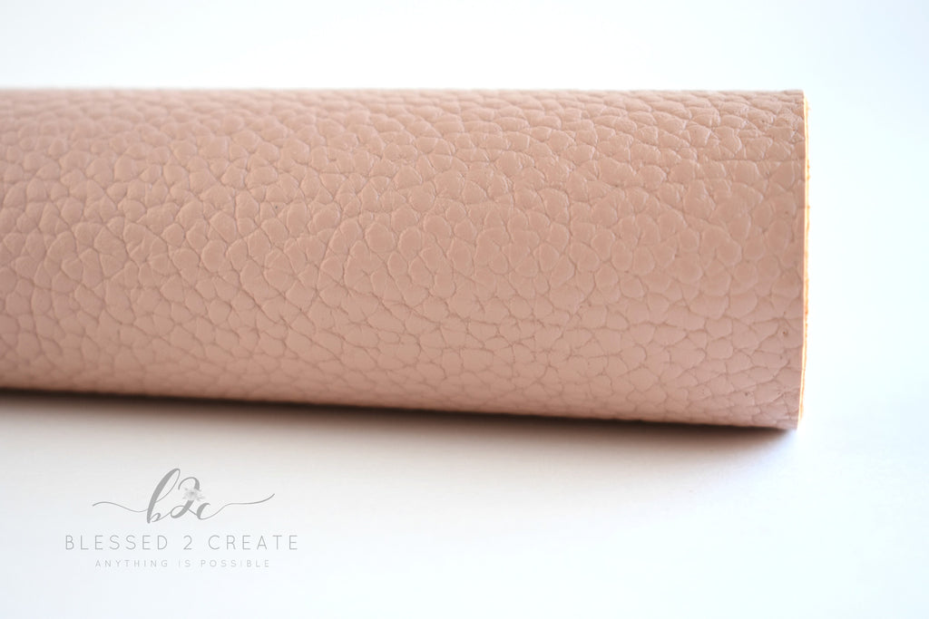 Deep Mauve Textured Faux Leather Fabric Sheet