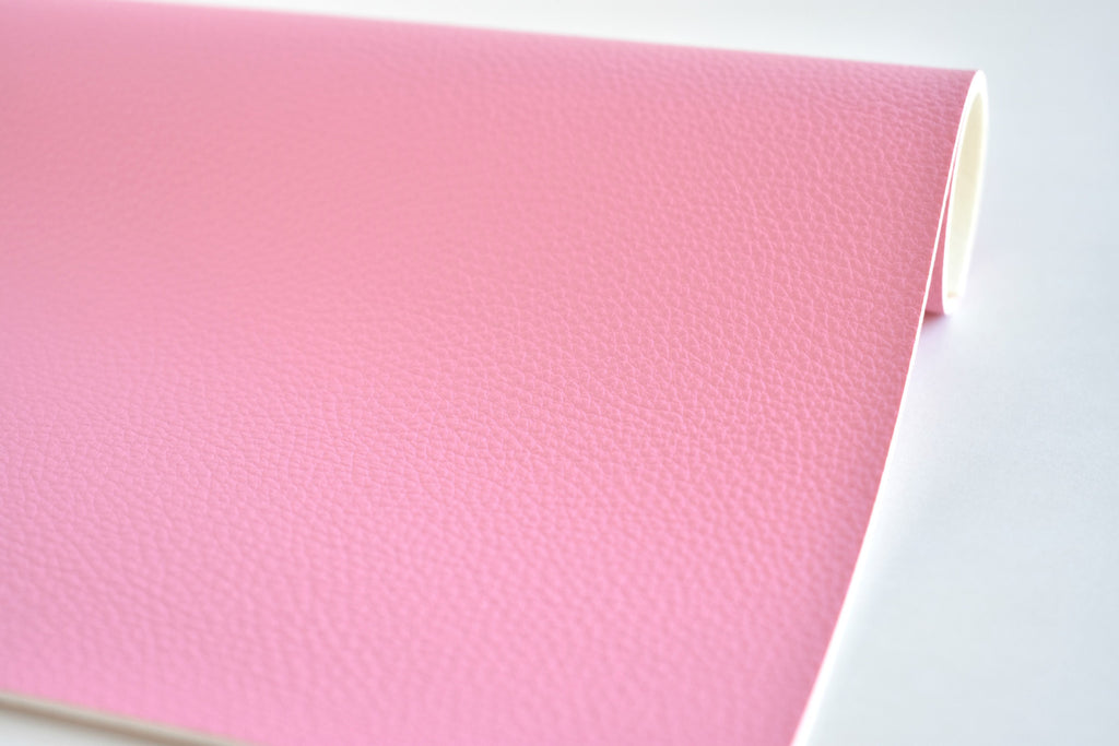 Pink Textured Faux Leather Fabric Sheet