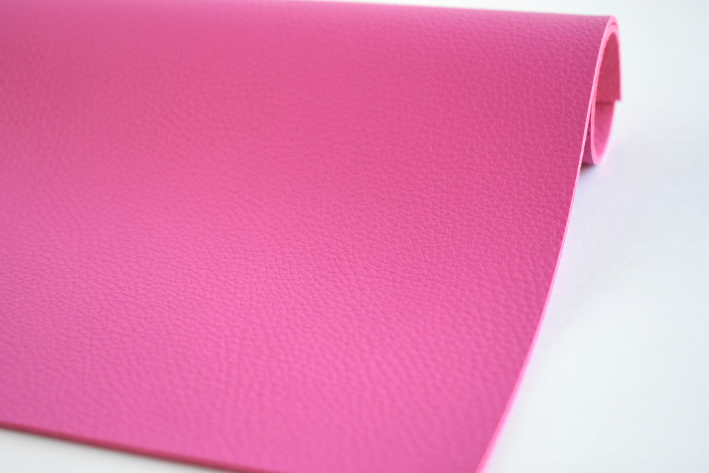 Bubblegum Pink Textured Faux Leather Fabric Sheet