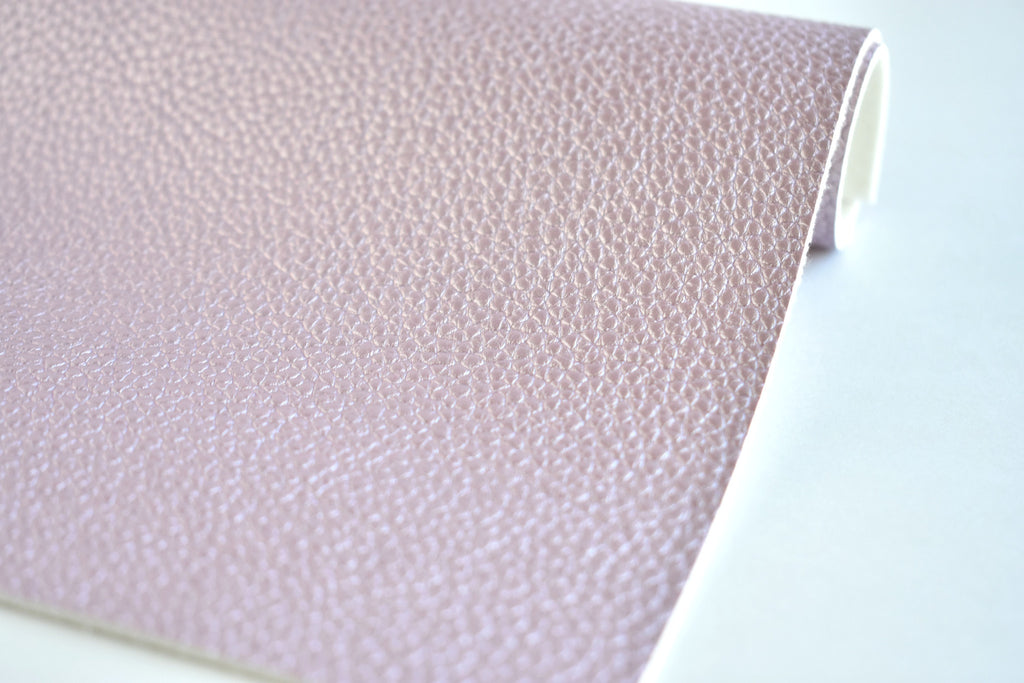 Light Purple Pearl Metallic Textured Faux Leather Fabric Sheet