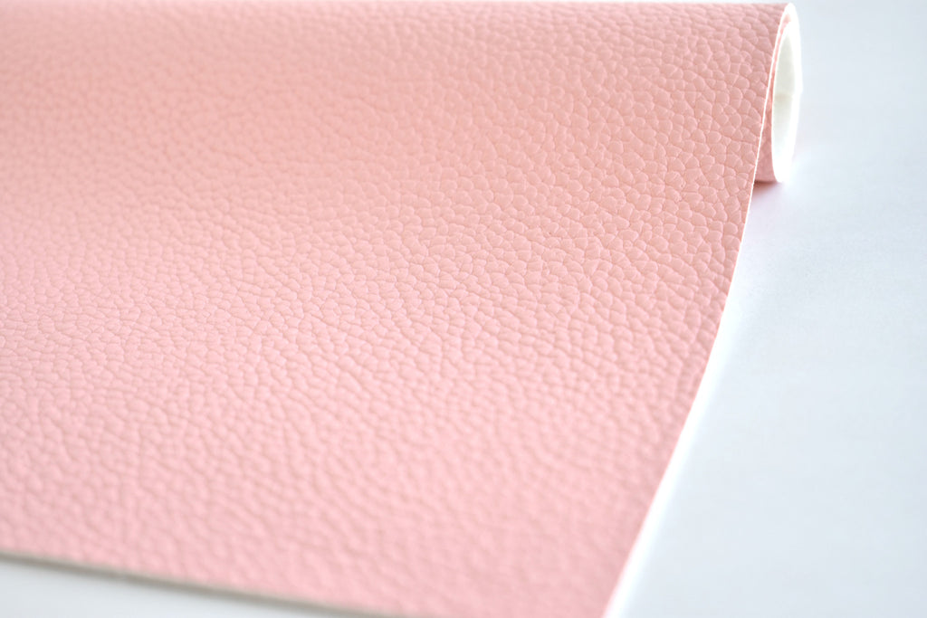 Light Pink Textured Faux Leather Fabric Sheet