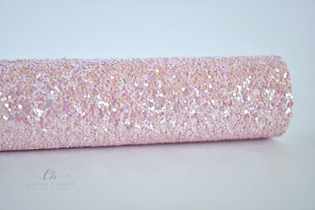 Sandy Baby Iridescent Chunky Glitter Fabric Sheet