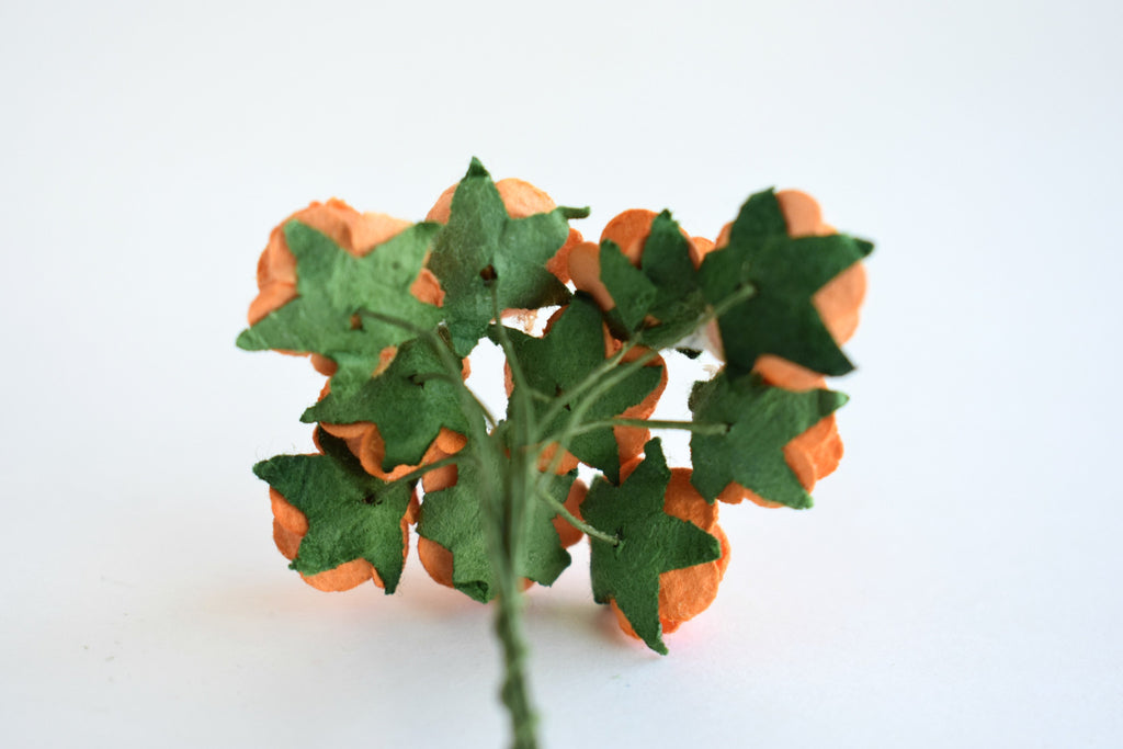 10 - 15mm Orange Rose Mulberry Paper Flowers