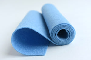 "5""x18"" Baby Blue 100% Merino Wool Felt Roll"