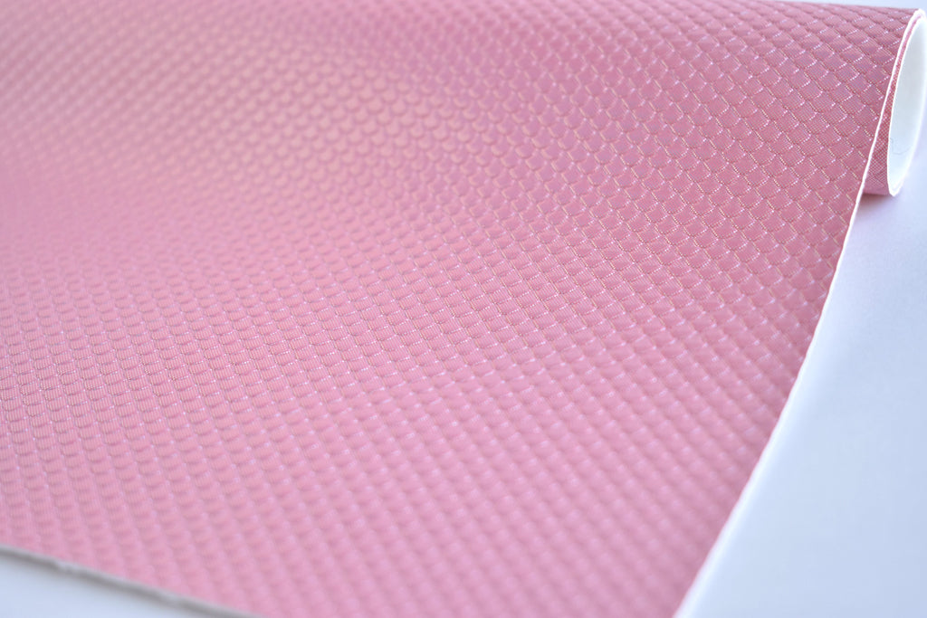Pink Mermaid Scale Iridescent Faux Leather Fabric Sheet