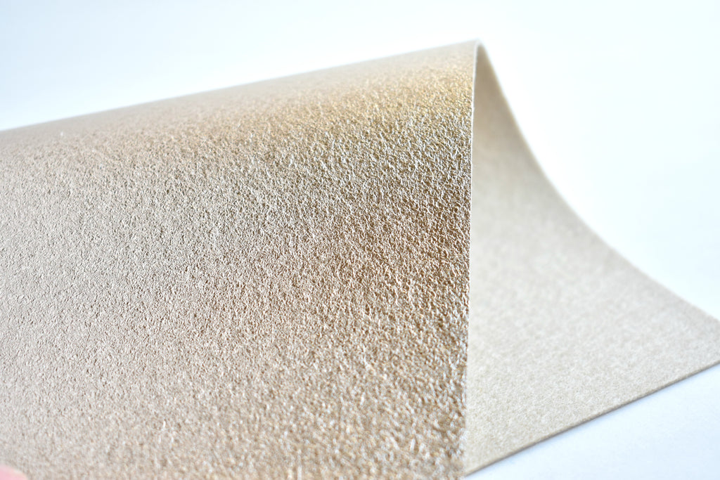 "6""x9.5"" Light Gold Brushed Metallic 100% Merino Wool Felt Sheet"