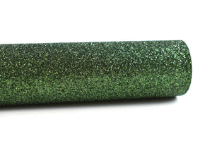 "6""x9.5"" Dark Green Fine Glitter 100% Merino Wool Felt Sheet"