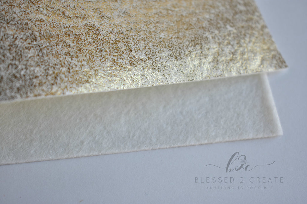 "8""x12"" Gold Metallic 100% Merino Wool Felt Sheet"