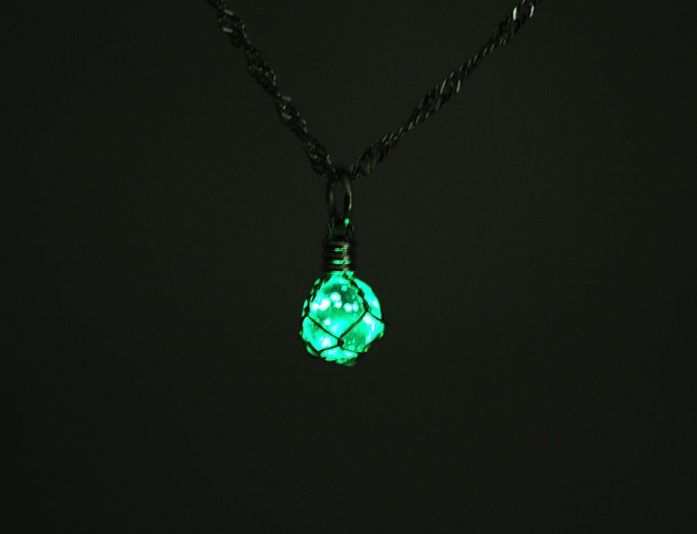 Sedmart Wire Wrapped Glowing Crystal Pendant-Asaitea