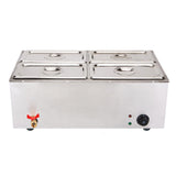 Stainless Steel Electric Bain-Maire Food Warmer with Pans and Lids 4*4.5L