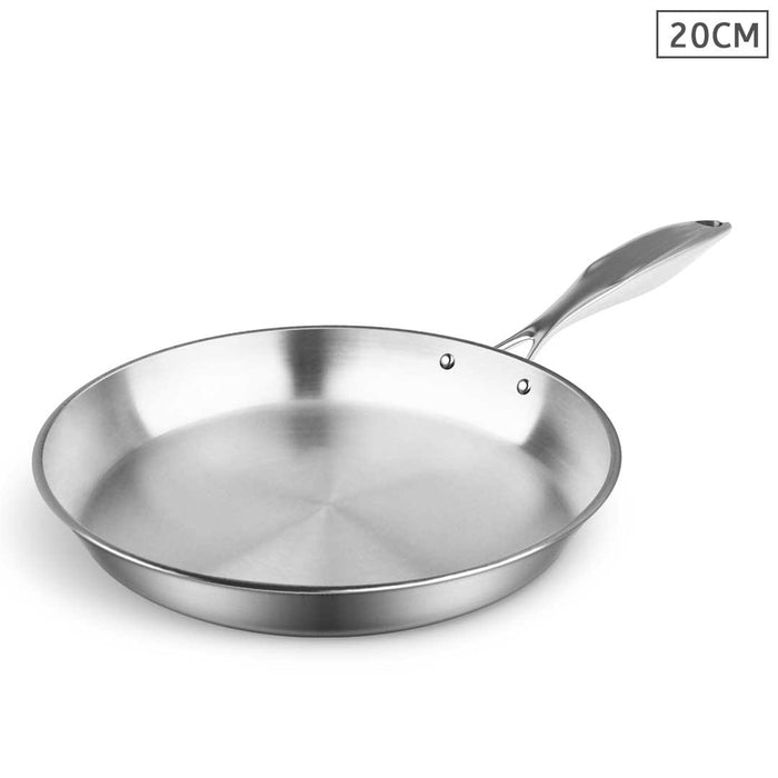 Stainless Steel Fry Pan 20cm Frying Pan Top Grade Induction Cooking FryPan