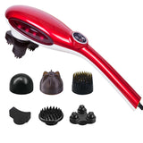 6 Heads Portable Handheld Massager Soothing Stimulate Blood Flow Shoulder Red