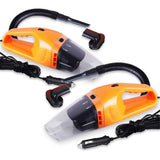 2x 12V Portable Handheld Vacuum Cleaner Car Boat Vans Orange