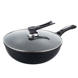 Commercial Ceramic Coated Non-Stick Fry Pan with Glass Lid  FryPan 30cm