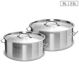 Stock Pot 9L 23L Top Grade Thick Stainless Steel Stockpot 18/10
