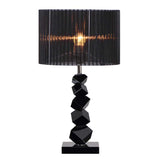 55cm Black Table Lamp with Dark Shade LED Desk Lamp