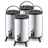 4 x 8L Portable Insulated Cold/Heat Coffee Tea Beer Barrel Brew Pot With Dispenser