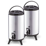 2 x 8L Portable Insulated Cold/Heat Coffee Tea Beer Barrel Brew Pot With Dispenser