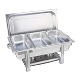 Triple Tray Stainless Steel Chafing Catering Dish Food Warmer