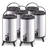 6 x 10L Portable Insulated Cold/Heat Coffee Tea Beer Barrel Brew Pot With Dispenser