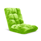Floor Recliner Folding Lounge Sofa Futon Couch Folding Chair Cushion Green