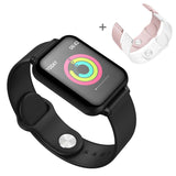 Fitness Smart Watch Heart Rate Monitor With 2X Wrist Band Replacement Strap
