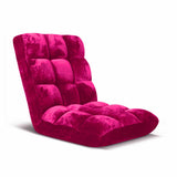 Floor Recliner Folding Lounge Sofa Futon Couch Chair Cushion Red Burgundy