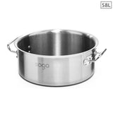Stock Pot 58L Top Grade Thick Stainless Steel Stockpot 18/10 Without Lid