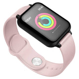 Waterproof Fitness Smart Wrist Watch Heart Rate Monitor Tracker Pink