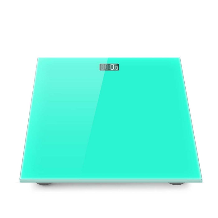 Green 180kg Digital Fitness Weight Bathroom Gym Body Glass LCD Electronic Scales