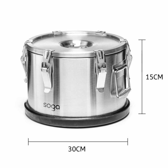 304 30*15cm Stainless Steel Insulated Food Carrier Food Warmer