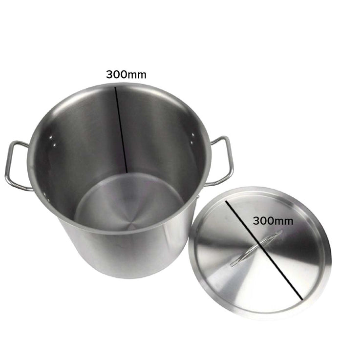 Stock Pot 21L Top Grade Thick Stainless Steel Stockpot 18/10 Without Lid