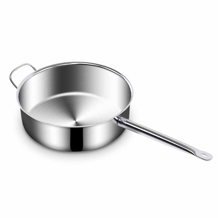 Stainless Steel 32cm Saucepan With Lid Induction Cookware Triple Ply Base