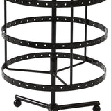 Earring Holder Stand Jewelry Display Hanging Rack Storage Metal Organizer 4 Tier Black